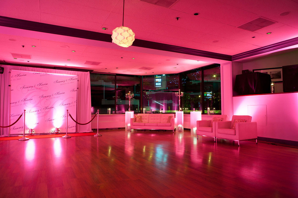 Intimate Private Reception lighting - decor - decorations - lounge furniture - corporate event decor vancouver