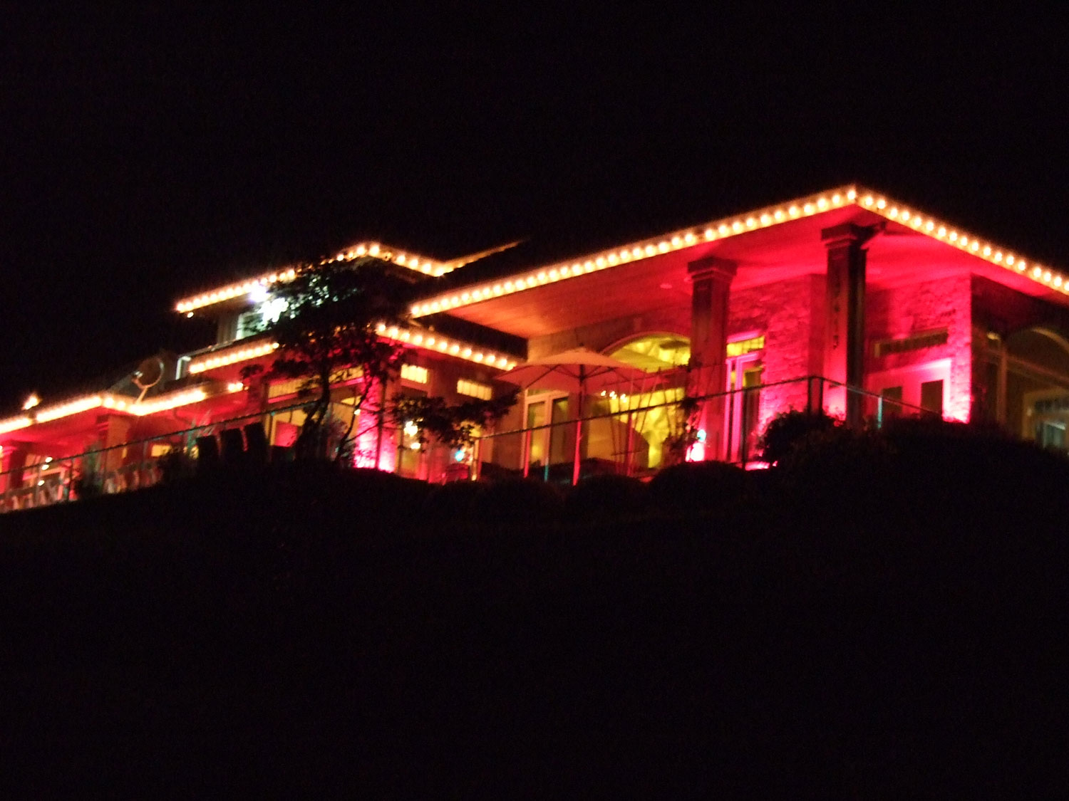 House Party Exterior Ambience Lighting - indian wedding house decorations - indian wedding house lighting