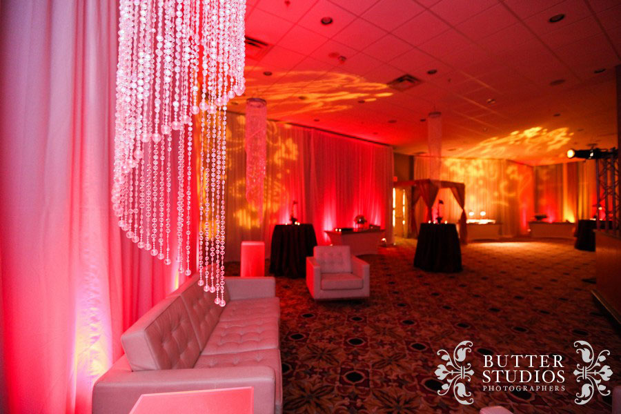 Marriott Hotel Vancouver - Cirque du Soleil Pre-Party - corporate event decor & lighting