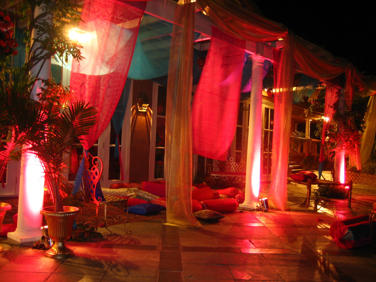 Indian Moroccan House Party Decor & Lighting - private party - house party - penthouse party - indian wedding decor