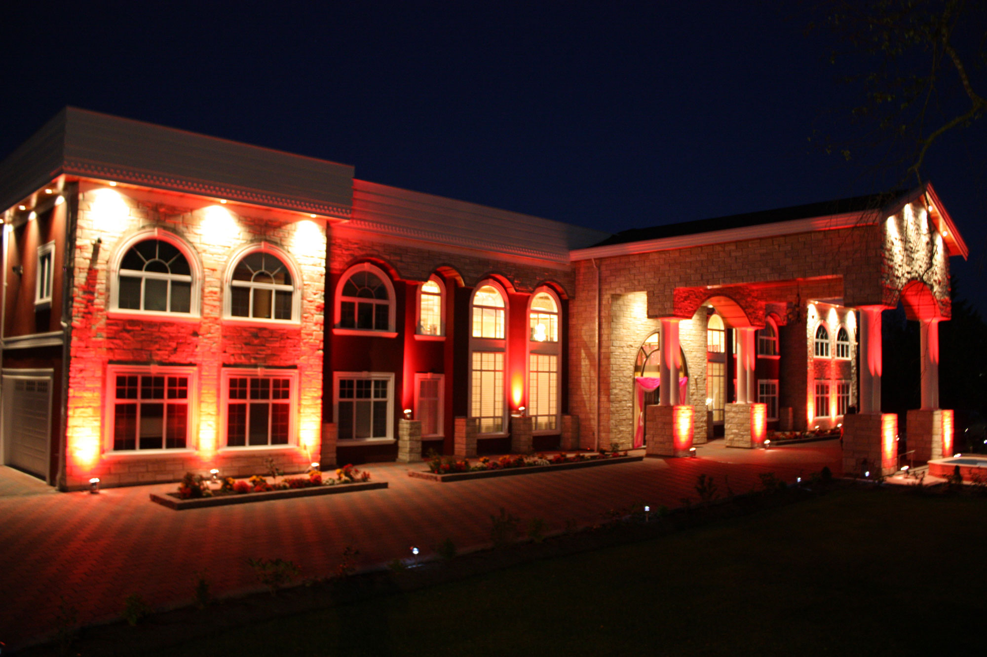 Private Residence House Party Lighting - vancouver wedding home lighting - indian wedding vancouver - indian wedding decor